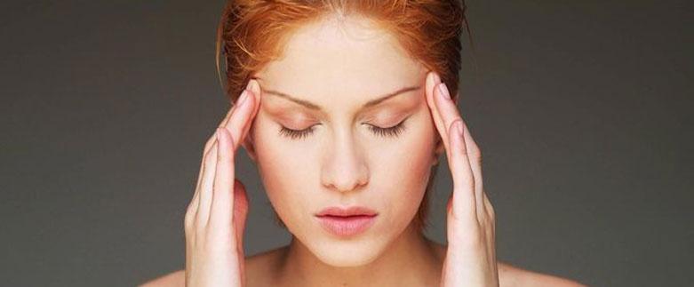 Bild-Migräne-Kopfweh